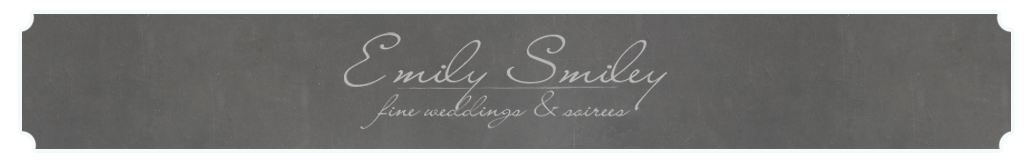 Emily Smiley: Fine Weddings and Soirees logo